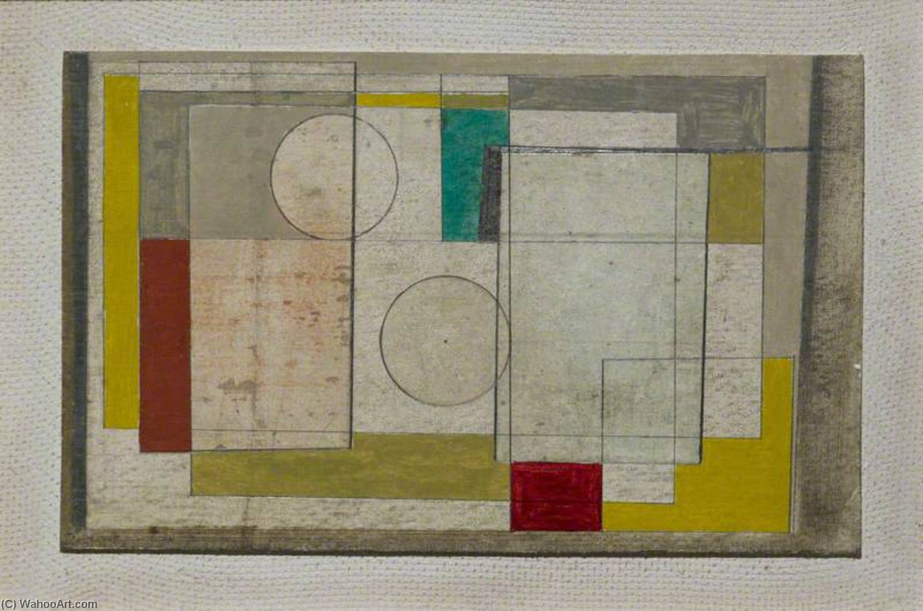 1945  original , caneta por Ben Nicholson (1894-1982, United Kingdom)