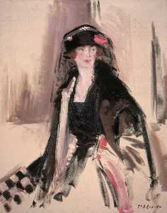 Francis Campbell Boileau Cadell - Senhora Lavery ( 1887–1935 )