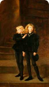 John Everett Millais - Príncipes dentro de  o  Torre