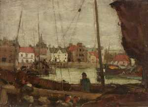 David Muirhead - o harbour , Stonehaven