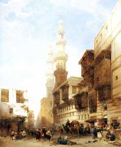 David Roberts - o gate de metwaley , Cairo