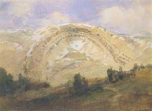 William Henry Holmes - Guardada Strata , um grande Geológico Arco , Colorado