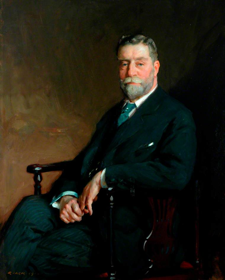 sir john c . Horsfall , Bt , presidente do conselho do condado de west riding de yorkshire ( 1910–1916 ), 1914 por Richard Jack (1866-1952, United Kingdom) | WahooArt.com