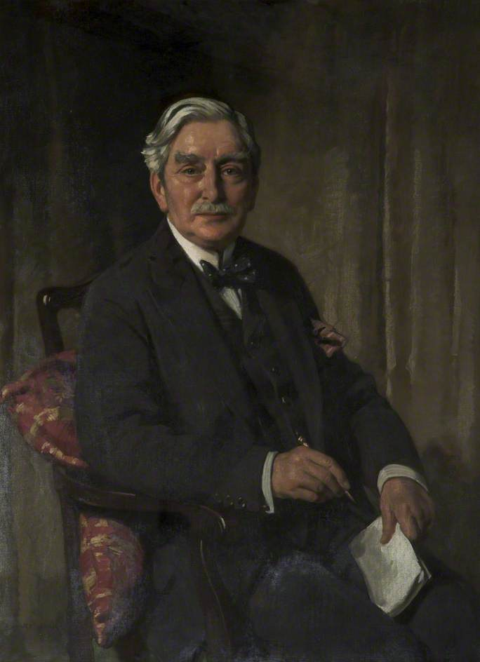 jonathan simpson ( 1850–1937 ), óleo sobre tela por Richard Jack (1866-1952, United Kingdom)