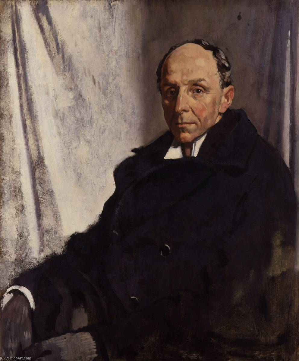 edgar algernon robert gascoyne cecil , 1st Visconde cecil de chelwood, óleo sobre tela por William Newenham Montague Orpen (1878-1931, Ireland)