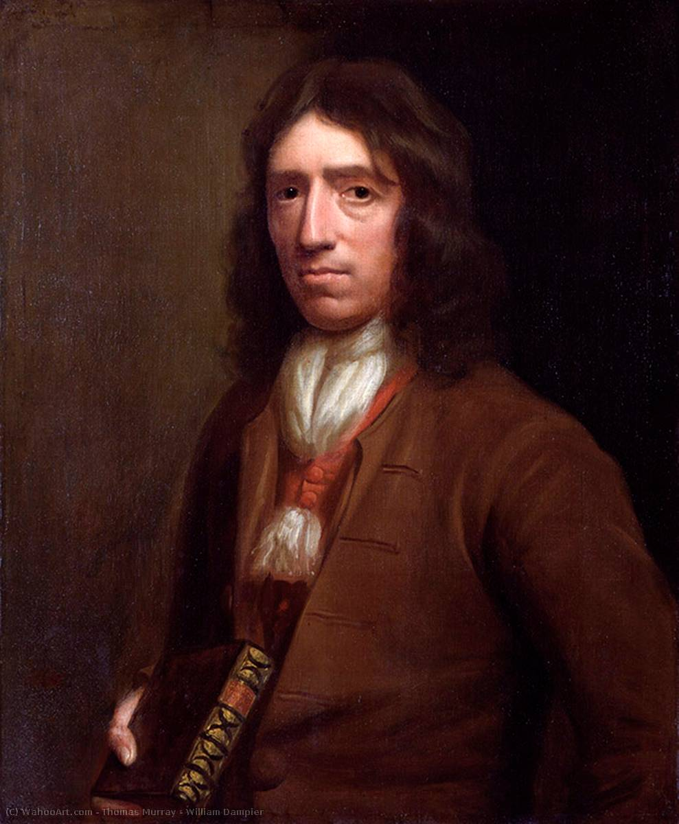 william dampier, óleo sobre tela por Thomas Murray