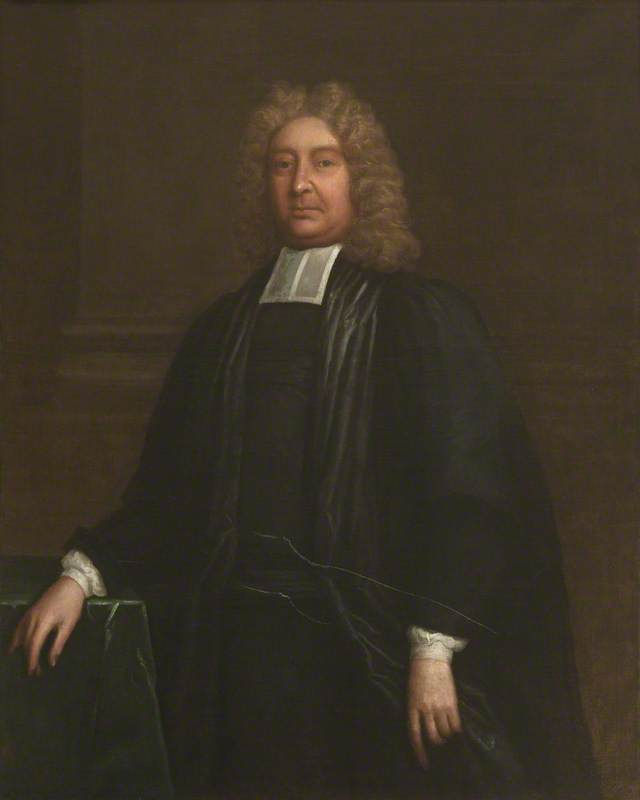 william lancaster ( 1650–1717 ) , Reitor ( 1704–1717 ), óleo sobre tela por Thomas Murray