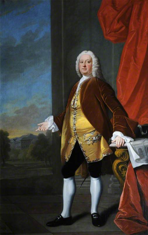 sir rowland winn ( 1706–1765 ) , 4th Bt, óleo sobre tela por Henry Pickering