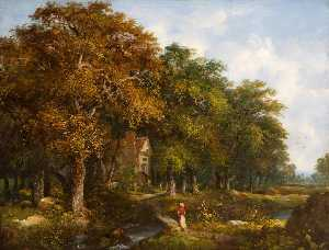 William Henry Crome - paisagem arvorizada