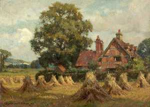 William Teulon Blandford Fletcher - Bletchworth Pedreira , Visto de pista mais baixa Casa de campo , Dorking , Surrey