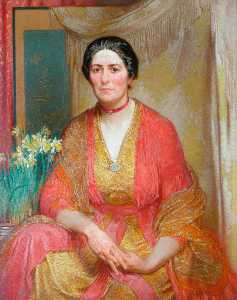 William Shackleton - Retrato da Mulher do Artista