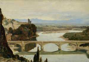 Frederick William Elwell - Avignon , Sommieres frança ( Vista 'Les roches o justice' )