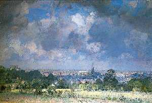 John Alfred Arnesby Brown - Vista de Norwich do Bungay Estrada , Norfolk