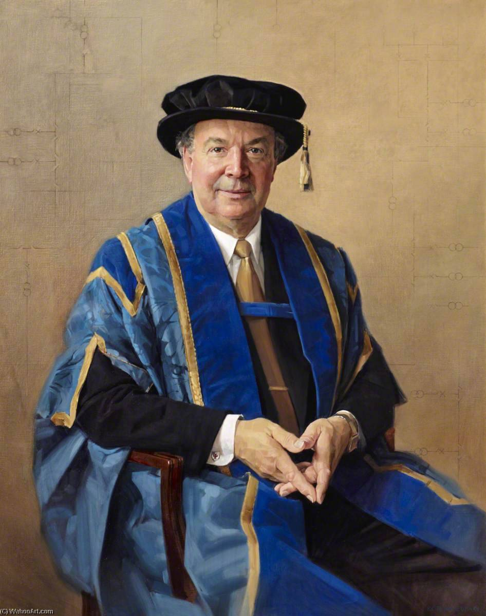 Professor Esterlino , Vício Chanceler ( 1990–2001 ), óleo sobre tela por Keith Breeden