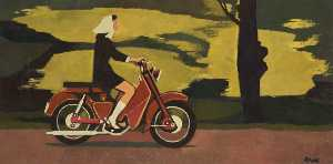Cliff Rowe - mulher na motocicleta