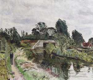 Carel Victor Morlais Weight - o towpath , Berkhamsted , Hertfordshire
