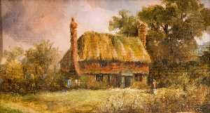Charles Langton Lockton - Casinha , Westhall Estrada ( o site do artist's casa 'Teeton' , demolida 1898 )