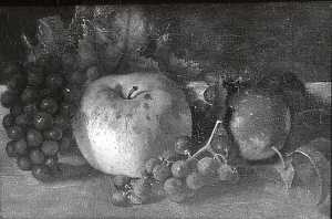 Mary Jane Peale - cerejas e  uvas  original