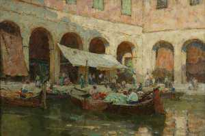 Terrick John Williams - O Rialto bazar  Veneza