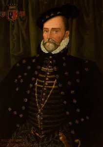 Edward Travanyon Haynes - william herbert ( d . 1570 ) , 1st Conde de pembroke ( depois de hans Eworth )