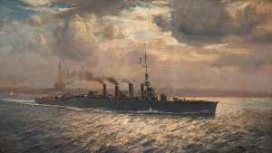 Arthur James Wetherall Burgess - HMS -Chester- no Mersey