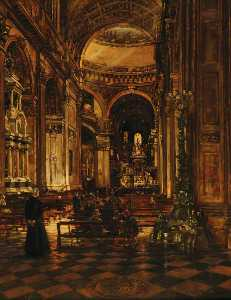 Joseph William Topham Vinall - Interior de Primeiro Paul's Catedral , Em londres