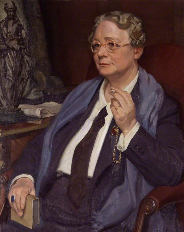 dorothy leigh sayers, óleo sobre tela por William Oliphant Hutchison