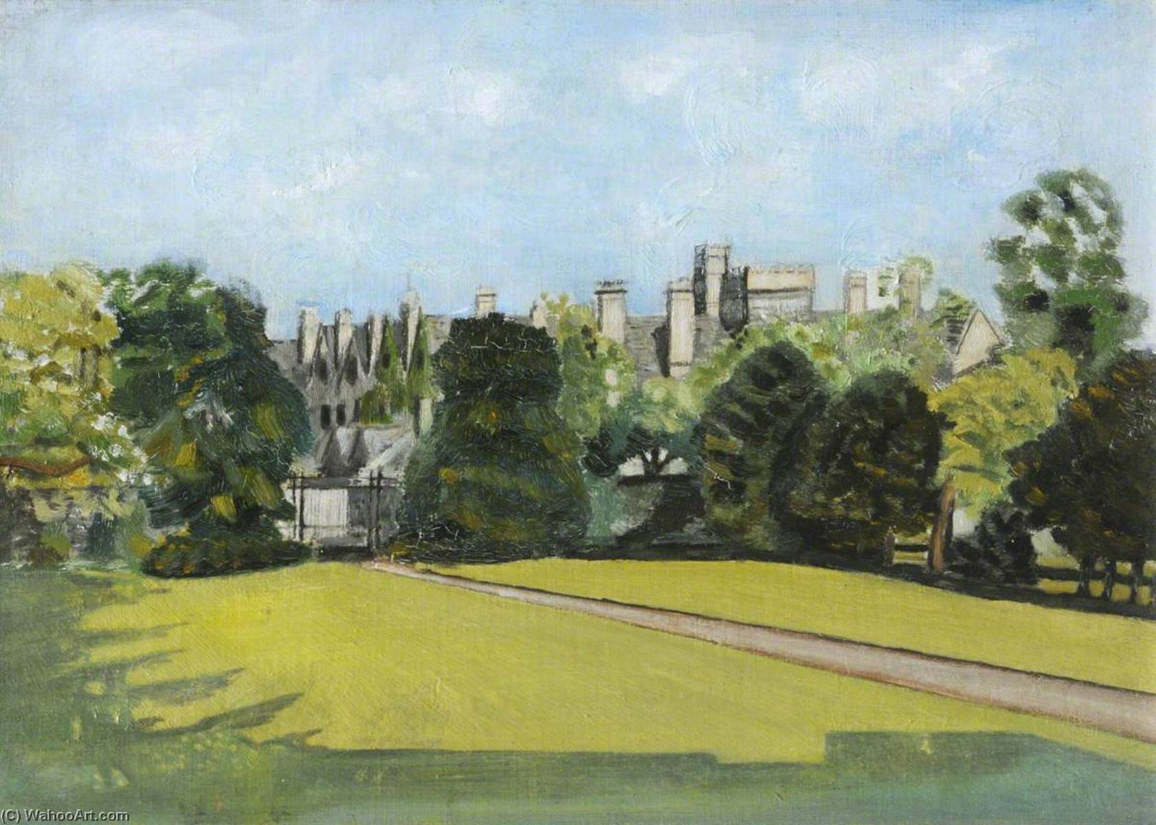 o Faculdade  jardim , Petróleo por Cyril Norman Hinshelwood (1897-1967, United Kingdom)