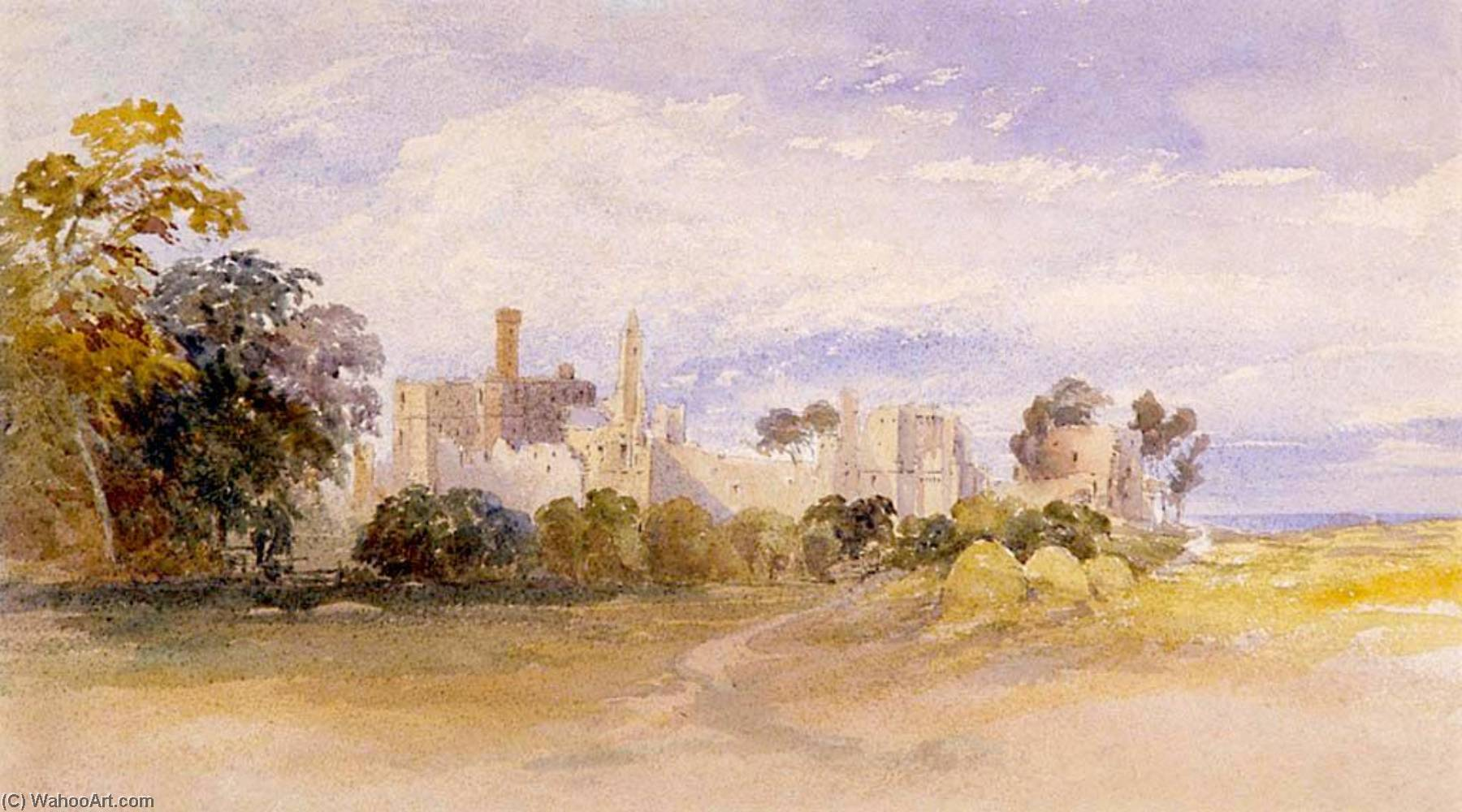 Kenilworth por David Cox The Elder | Reproduções De Arte David Cox The Elder | WahooArt.com
