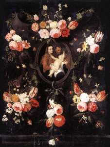 Jan Van Kessel The Elder - família sagrada
