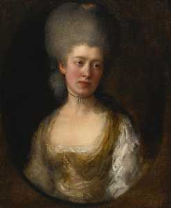 Thomas Gainsborough - retrato de senhora catherine ponsonby , Duquesa de st . Albans ( 1742 89 )