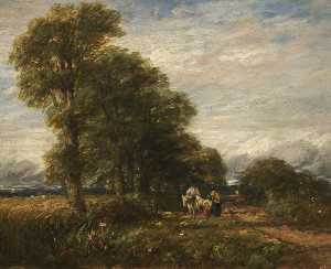 David Cox The Elder - lane perto de rowley regis