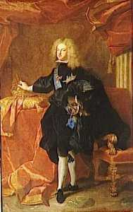 Hyacinthe Rigaud - PHILIPPE V , REI D'ESPAGNE ( 1683 1746 )