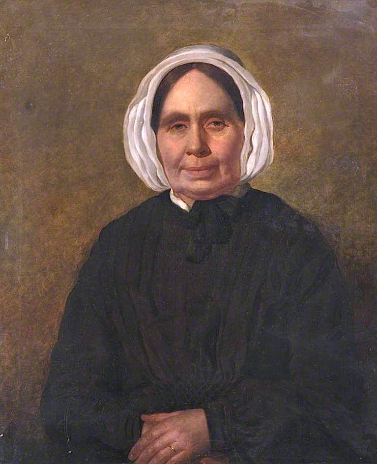 margaret hosie , Esposa de william Raposa , Mercantil de carnoustie, óleo sobre tela por William Baxter Collier Fyfe