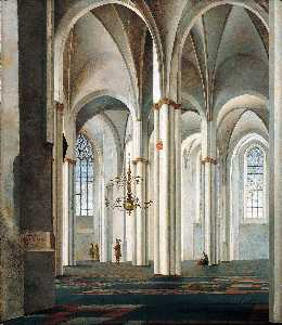 Peter Saenredam - Interior do Buurkerk , Utrecht