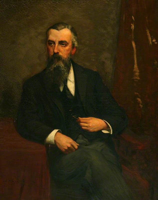 william alfred Torneiro, óleo sobre tela por John Herbert Evelyn Partington
