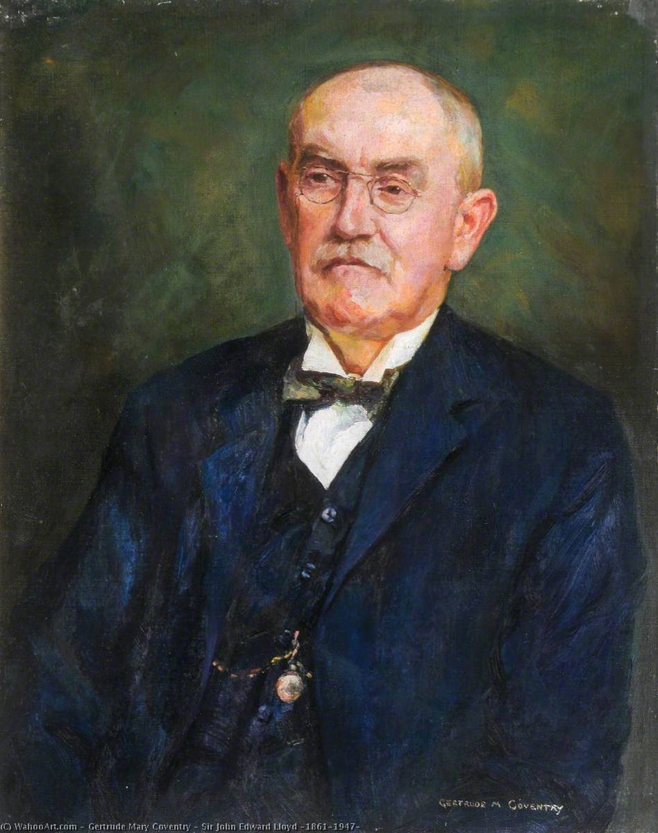 sir john edward lloyd ( 1861–1947 ), óleo sobre tela por Gertrude Mary Coventry