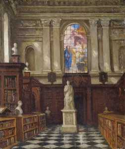 Frederick Hawkesworth S Shepherd - interior do Carriça  biblioteca