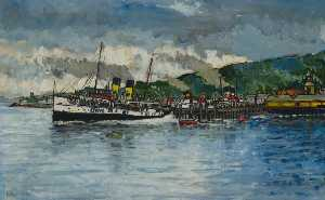 Robin Harvey Wyllie - 'Jupiter' , 'Queen Mary' e 'Jeanie Deans' em rothesay