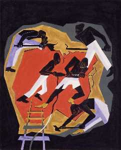 Jacob Lawrence - Africano ouro  Mineiros