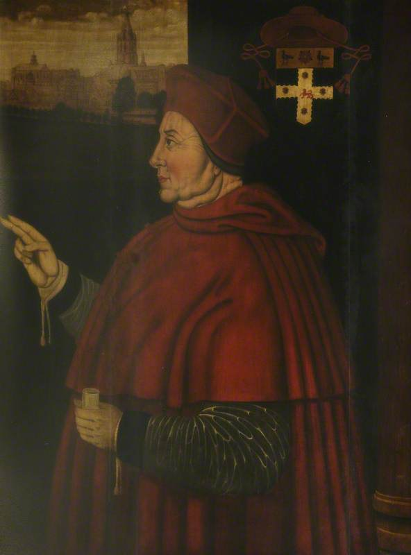 Cardeal thomas wolsey ( 1475–1530 ), painel por Sampson Strong