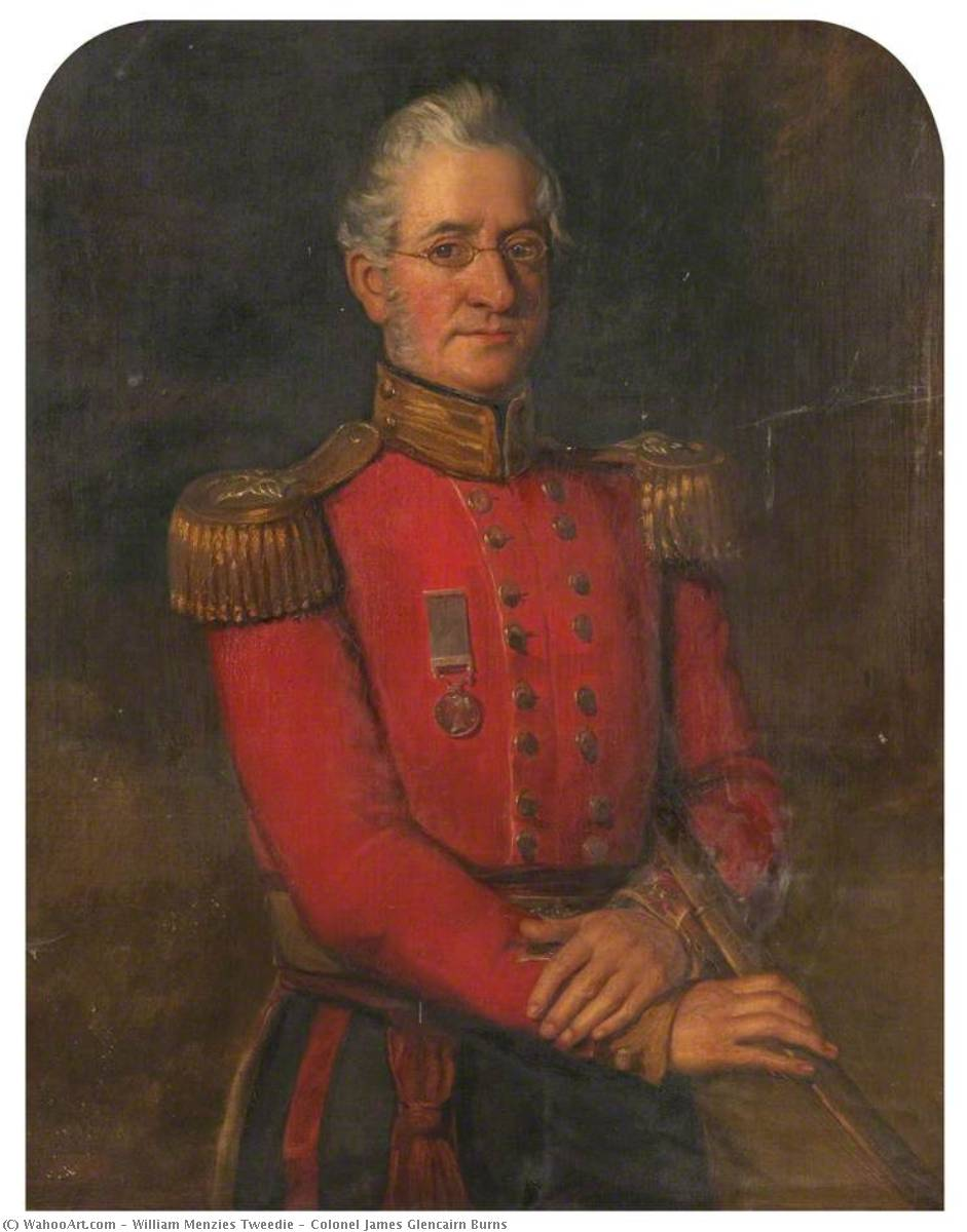 Coronel james glencairn Queimaduras, óleo sobre tela por William Menzies Tweedie