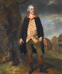 Johann Zoffany - Retrato de sir robert preston