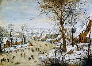 Pieter Brueghel The Younger - o pássaro armadilha