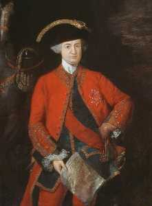Thomas Gainsborough - Robert , lord clive ( 1725–1774 ) , em geral Officer's Farda