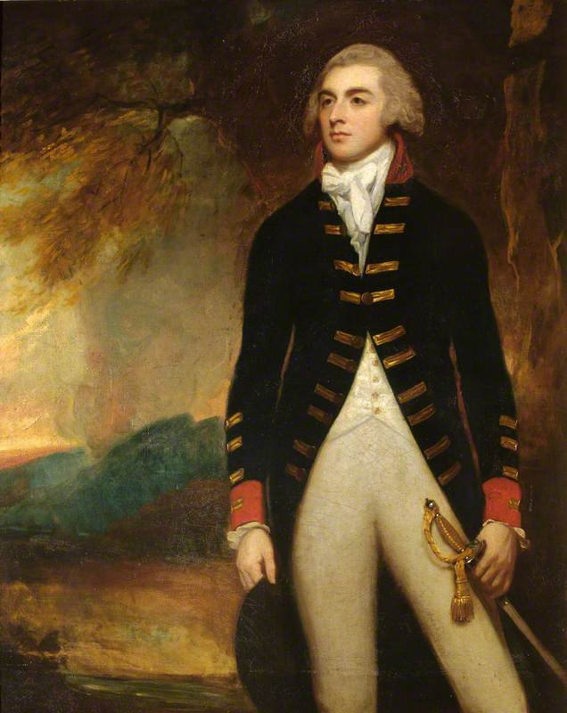 João Richard Oeste ( 1757–1783 ) , 4th Conde da Warr por George Romney (1734-1802, United Kingdom) | Copy Pintura | WahooArt.com