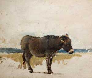 David Cox The Elder - estudo de a burro