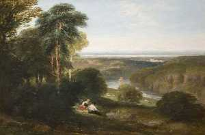 David Cox The Elder - o Wyndcliffe , Rio Wye