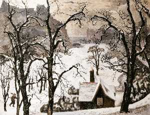 William Crozier - Edimburgo dentro de  neve