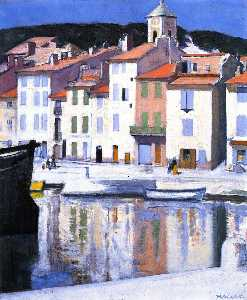 Francis Campbell Boileau Cadell - o harbour , Cassis